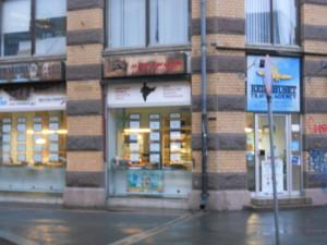 Armoedig reisbureau in Oslo