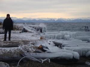 Bevroren lake Baikel