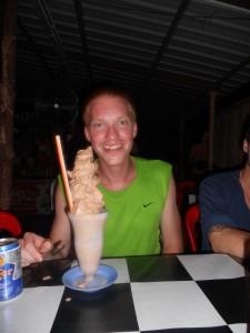 Een shake besteld
