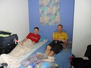 Ernst enRaymond op de kamer